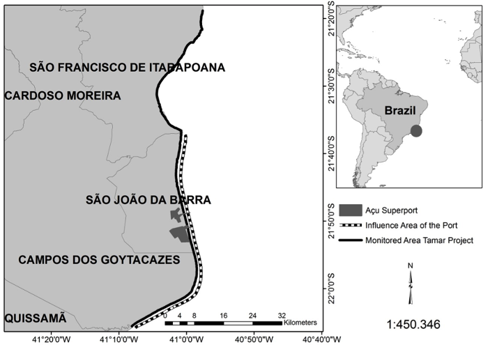 MTN Hopper Dredging Impacts On Sea Turtles On The - Brazil main ports harbour map